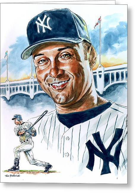 Jeter Greeting Card