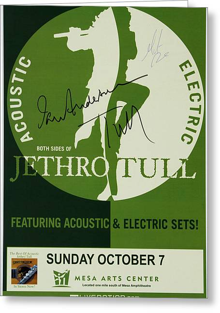 Jethro Tull Signed Poster Greeting Card