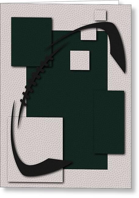 Jets Football Art Greeting Card by Joe Hamilton