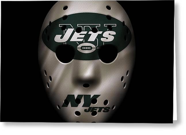 Jets War Mask Greeting Card