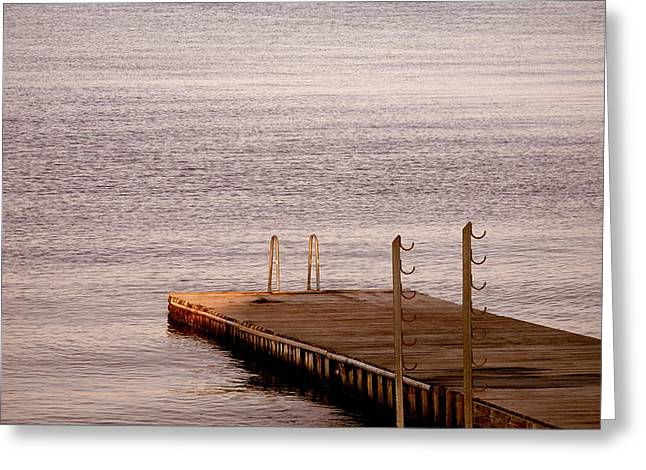Greeting Card featuring the photograph Jetty At Helleruphavn by Michael Canning