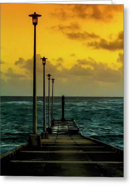 Jetty At Sunrise Greeting Card