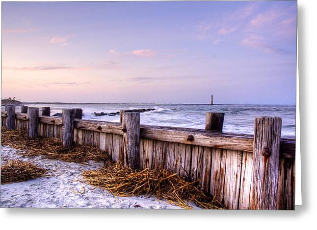 Jetty Sunset Greeting Card by Drew Castelhano