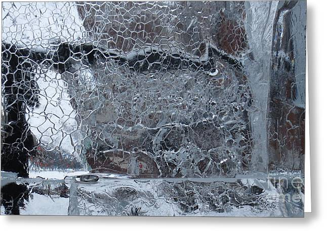 Jeu De Glace I / Ice Puzzle I Greeting Card by Dominique Fortier