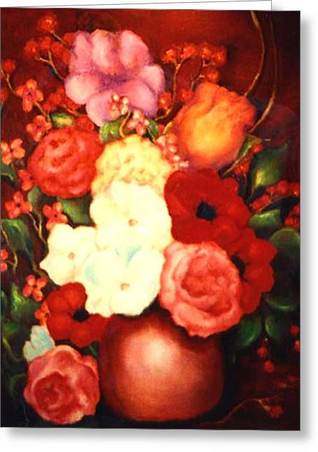 Jewel Flowers Greeting Card