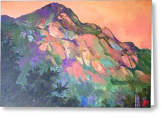 Jewel Mountain 1. Greeting Card