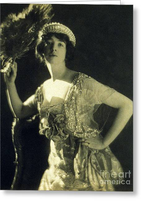 Jeweled Gown And Tiara, 1916 Greeting Card