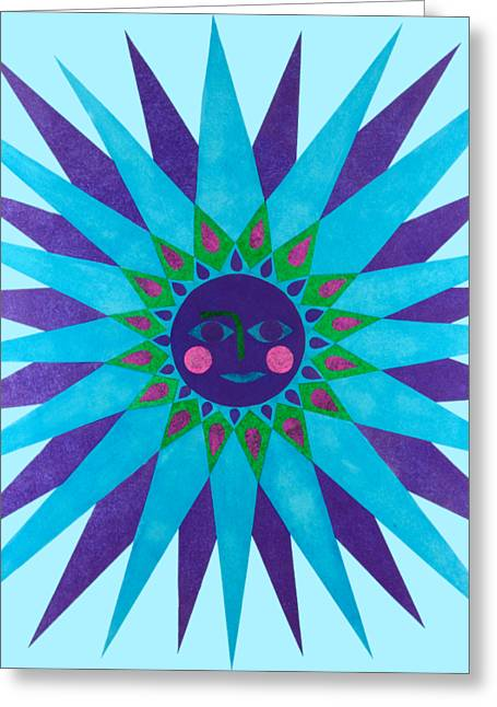 Jeweled Sun Greeting Card