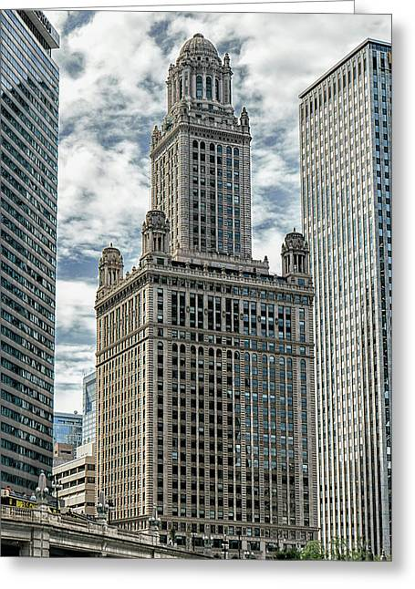 Jewelers Building Chicago Greeting Card by Alan Toepfer