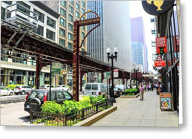 Jewelers Row District Chicago Greeting Card