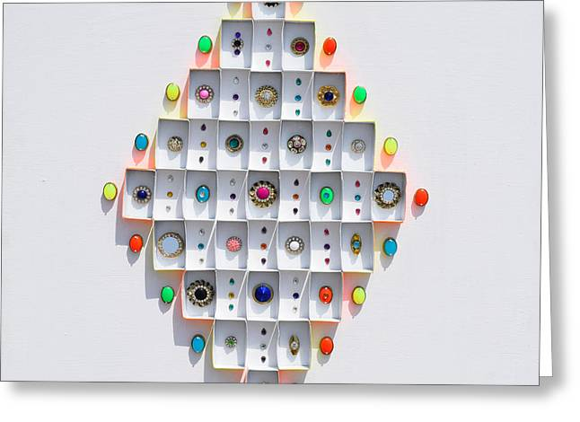Jewelled It Series No 1 Greeting Card by Sumit Mehndiratta