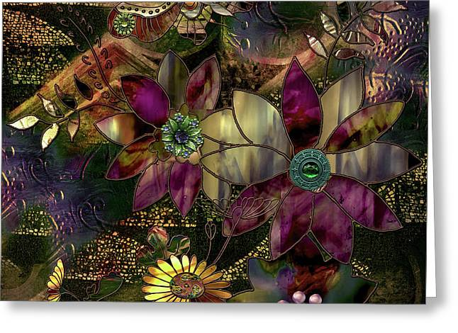 Jewelry Box Garden Greeting Card by Mindy Sommers