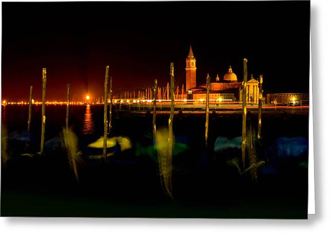 Jewels Of The Grand Canal Greeting Card by Zina Zinchik