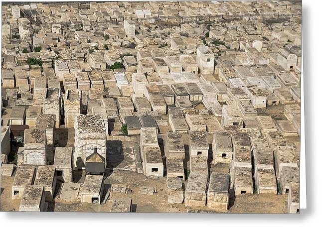 Jewish Cemetery On Mount Of Olives Greeting Card