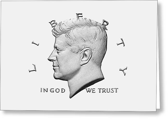 Jfk - In God We Trust Greeting Card by War Is Hell Store