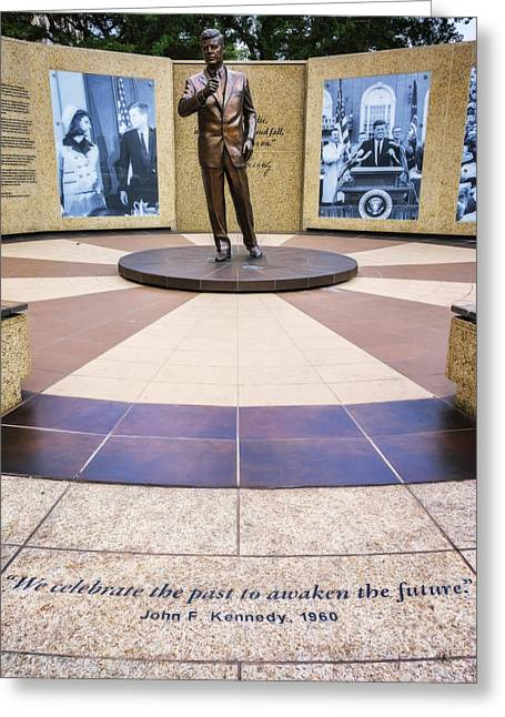 Jfk Tribute Fort Worth Greeting Card