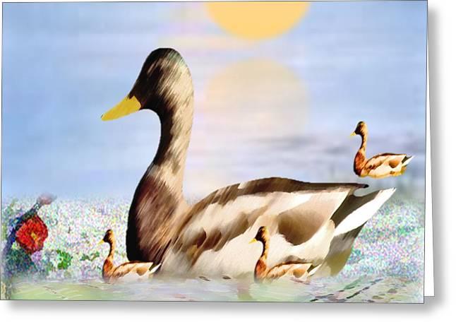 Jhot Summer Day Greeting Card by Belinda Threeths
