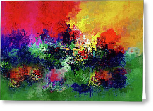 Jigsaw Of Life Abstract Greeting Card