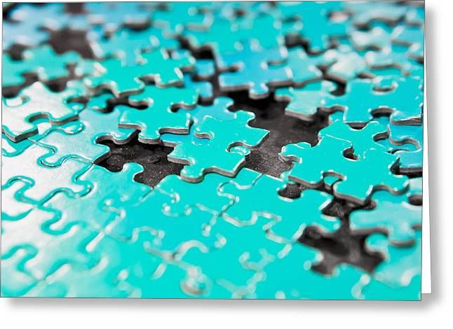 Jigsaw Puzzle Greeting Card