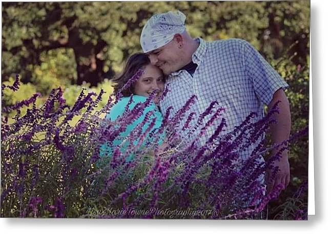 Jill Purple Greeting Card