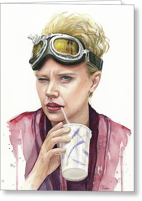 Jillian Holtzmann Ghostbusters Portrait Greeting Card by Olga Shvartsur