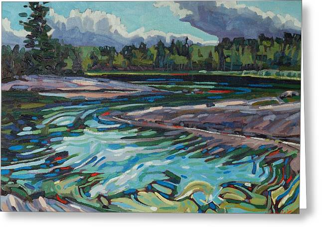 Jim Afternoon Rapids Greeting Card by Phil Chadwick