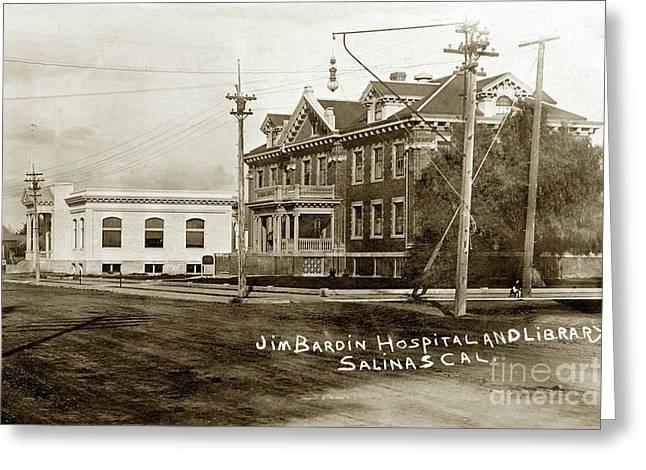 Jim Bardin Hospital The Hospital Was Located On The E Side Of Main Street  Circa 1910 Greeting Card