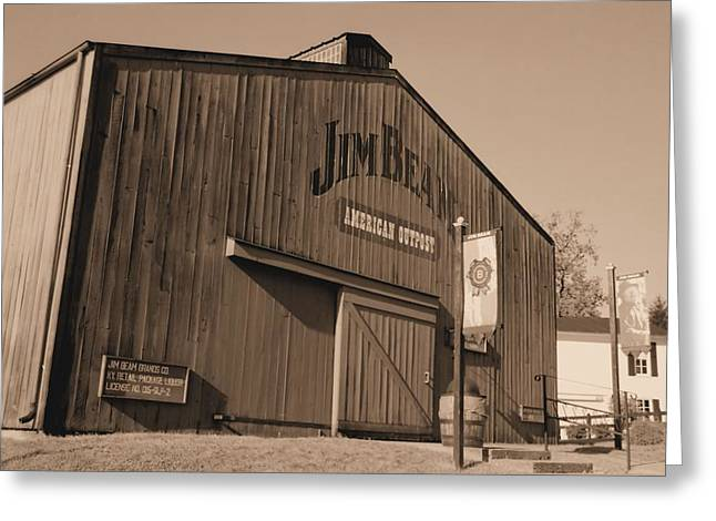 Jim Beam Distillery Sepia Greeting Card