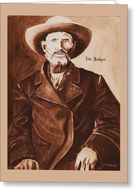 Jim Bridger Greeting Card by Jeff Blazejovsky