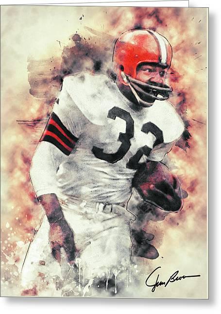 Jim Brown Greeting Card