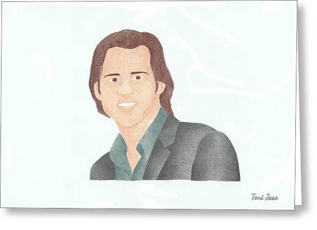 Jim Carey Greeting Card by Toni Jaso