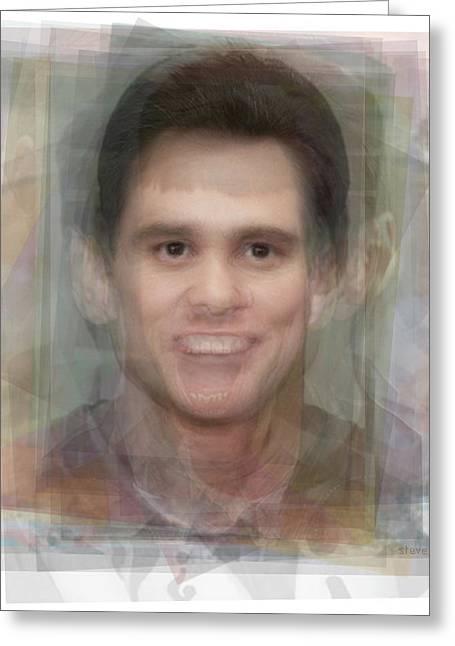 Jim Carrey Greeting Card by Steve Socha