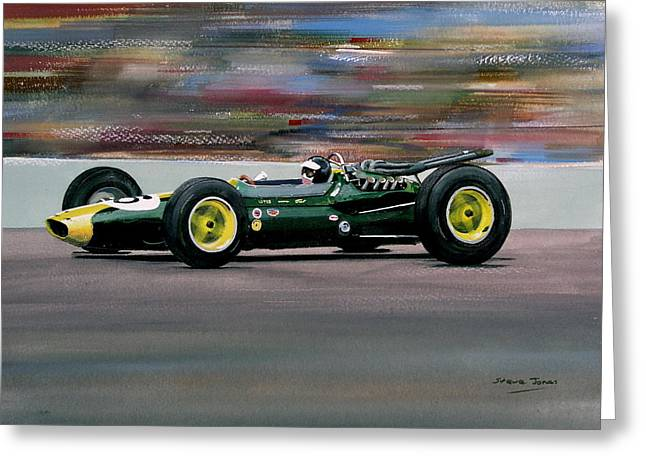 Jim Clark Indy 500 Greeting Card