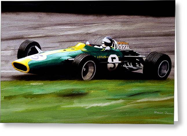 Jim Clark Lotus 49 Greeting Card