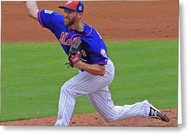 Jim Henderson New York Mets Pitcher Greeting Card