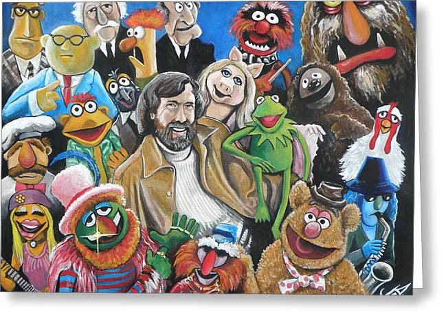 Jim Henson And Co. Greeting Card by Tom Carlton