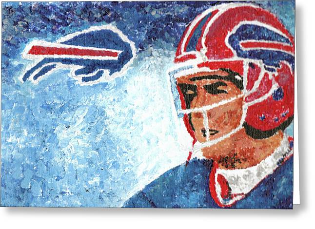 Jim Kelly Greeting Card by William Bowers