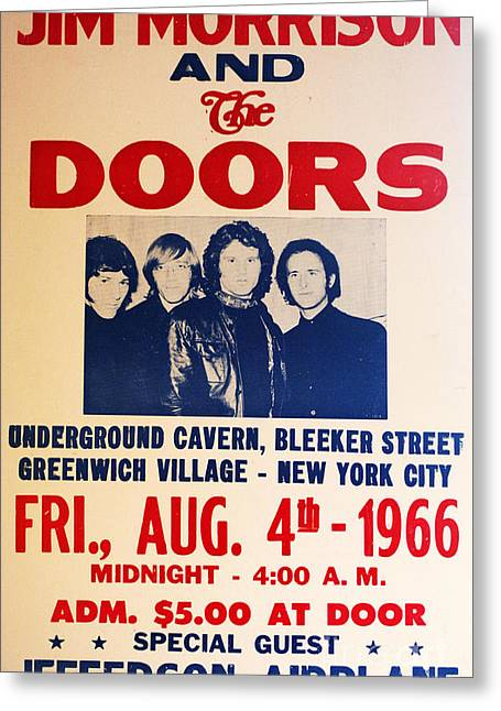 Jim Morrison And The Doors Poster Collection 3 Greeting Card