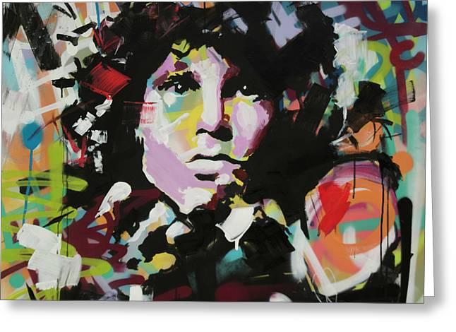 Jim Morrison Greeting Card by Richard Day
