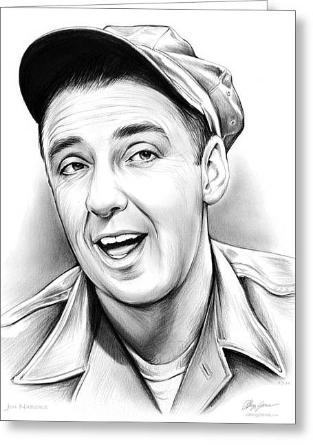Jim Nabors Greeting Card by Greg Joens