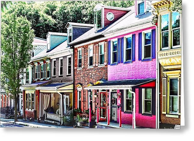 Jim Thorpe Pa - Colorful Street Greeting Card