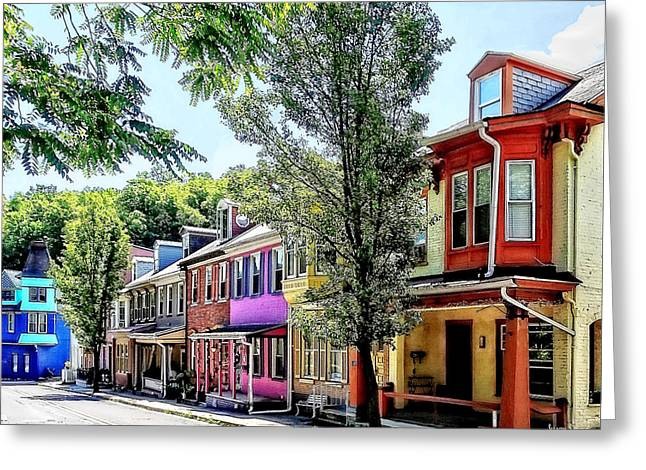 Jim Thorpe Pa - Quaint Street Greeting Card