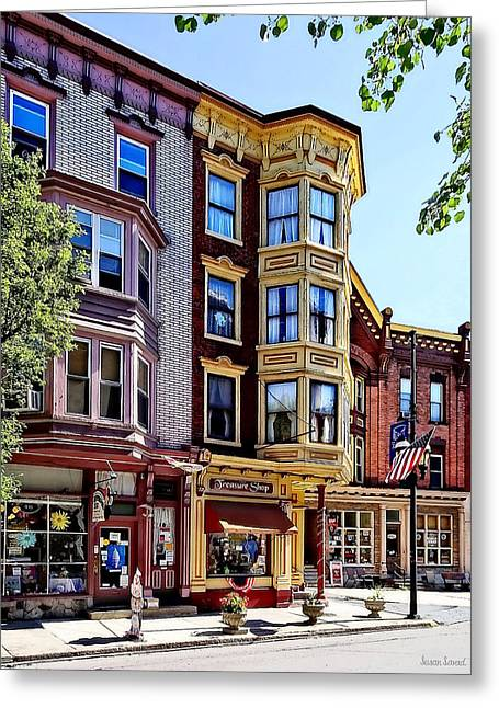 Jim Thorpe Pa - Shops Along Broadway Greeting Card
