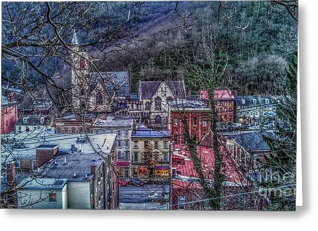 Jim Thorpe Pennsylvania In Winter #1 Greeting Card