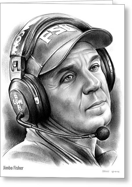 Jimbo Fisher Greeting Card by Greg Joens