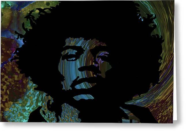 Acid Graphic Jimi Hendrix Greeting Card