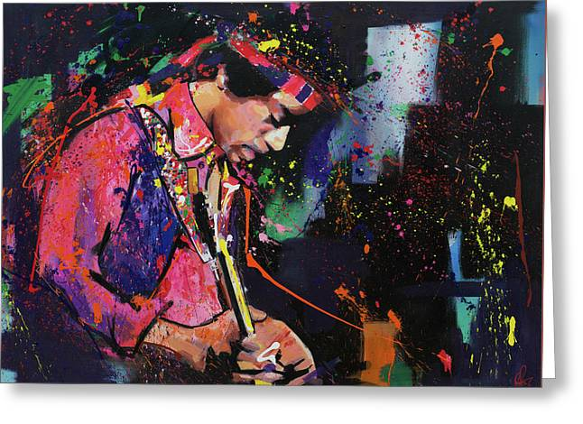 Jimi Hendrix II Greeting Card by Richard Day