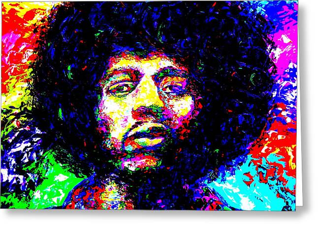 Mike Obrien Greeting Cards - Jimi Hendrix Greeting Card by Mike OBrien