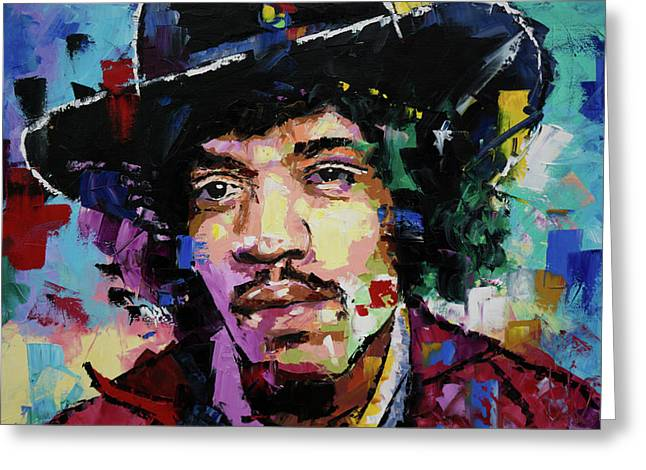 Jimi Hendrix Portrait II Greeting Card by Richard Day
