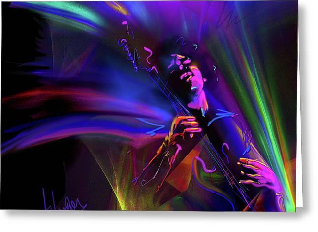 Jimi Hendrix, Purple Haze Greeting Card